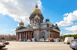Famous Saint Isaac's Cathedral in St. Petersburg Royalty Free Stock Images