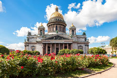 Famous Saint Isaac's Cathedral in St. Petersburg Stock Photo