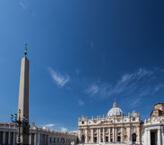 Famous Saint Peter& x27;s Square in Vatican, aerial view of the city Rome, Italy. Stock Images