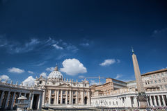Famous Saint Peter& x27;s Square in Vatican, aerial view of the city Rome, Italy. Royalty Free Stock Image