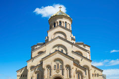 Famous Sameba church. Tbilisi, Georgia Royalty Free Stock Images