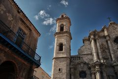 The famous San Cristobal Cathedral of Havana Royalty Free Stock Photography