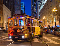 Famous San Francisco tram like bus. at the Chinese Parade 2016 San Francisco CA Stock Photography