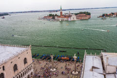 Famous San Giorgio Maggiore church in Venice, Italy Stock Images