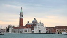 Famous San Giorgio Maggiore island and church stock video