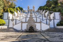 Bom Jesus do Monte sanctuary. Famous sanctuary Bom Jesus do Monte near Braga city in historical Minho Province, Portugal Royalty Free Stock Images