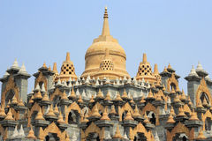 Famous sandstone  pagoda  in thailand Royalty Free Stock Photos