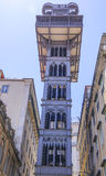 Famous Santa Justa Elevator in Lisbon Stock Photography