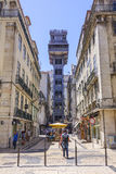 Famous Santa Justa Elevator in Lisbon Royalty Free Stock Images