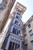 Famous Santa Justa Elevator in Lisbon Stock Image
