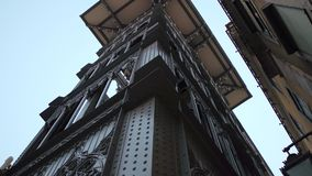 Famous Santa Justa Elevator in Lisbon stock video footage