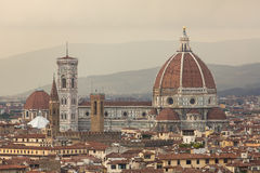 Famous Santa Maria del Fiore cathedrall, Duomo by Brunelleschi Royalty Free Stock Image