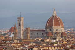 Famous Santa Maria del Fiore cathedrall, Duomo by Brunelleschi Royalty Free Stock Photography