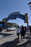 Famous Santa Monica Pier Sign royalty free stock image