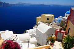 Famous Santorini island, Greece royalty free stock image