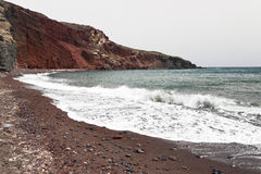 Famous Santorini Red beach Royalty Free Stock Photography