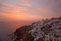 Famous Santorini sunset Stock Photos