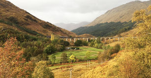 A Famous Scene in Glenfinnan Viaduct. This photo is shot in Scotland Stock Photo