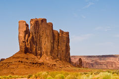 Famous scenic Butte in Monument Stock Images