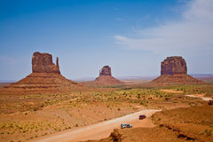 Famous scenic Butte in Monument Valley Stock Photos