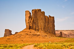 Famous scenic Butte in Monument Valley Stock Photography