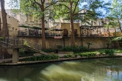 Famous Scenic San Antonio River Walk in Texas.  royalty free stock photography