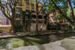 Famous Scenic San Antonio River Walk in Texas.  stock photo