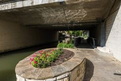 Famous Scenic San Antonio River Walk in Texas.  stock image