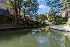 Famous Scenic San Antonio River Walk in Texas.  royalty free stock photography