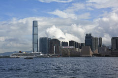Famous scenic spots in Hongkong. Victoria Harbour in HongKong,many tourists could come there Stock Photos