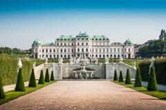 Famous Schloss Belvedere in Vienna, Austria. Beautiful view of famous Schloss Belvedere, built by Johann Lukas von Hildebrandt as a summer residence for Prince Stock Photos