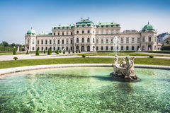 Famous Schloss Belvedere in Vienna, Austria Stock Images