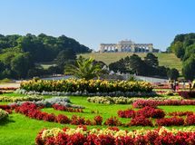 Famous Schonbrunn Palace in Vienna, Austria.  Royalty Free Stock Photo