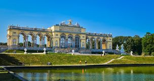Famous Schonbrunn Palace in Vienna, Austria.  Royalty Free Stock Images