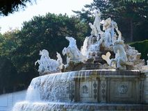 Famous Schonbrunn Palace in Vienna, Austria.  Stock Image