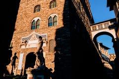 famous sculpture of David in Piazza Della Signoria, stock photo
