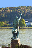Famous sculpture of mayor Joseph Goerres in Koblenz at the river Stock Image
