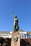 Famous sculpture of mayor Joseph Goerres in Koblenz at the river Royalty Free Stock Images
