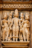 Famous sculptures of Khajuraho temples, India Stock Images