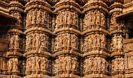 Famous Sculptures Of Khajuraho Temples, India Stock Photo