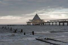 Heringsdorf sea bridge stock photography
