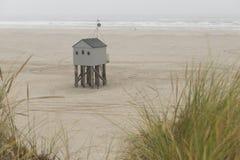 Famous sea cottage Het Drenkelingenhuisje Terschelling on the ne Stock Image