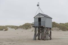 Famous sea cottage Het Drenkelingenhuisje Terschelling on the ne Stock Photography