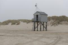 Famous sea cottage Het Drenkelingenhuisje Terschelling on the ne Royalty Free Stock Photography