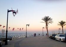 The famous seaside Corniche on sunset, Beirut, Lebanon Stock Photography