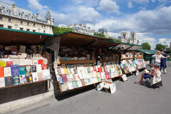 Famous second-hand book market in Paris Stock Image