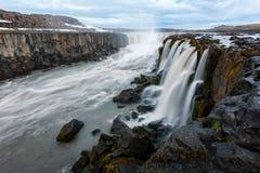 Famous Selfoss waterfall. Jokulsargljufur National Park, Iceland Royalty Free Stock Images