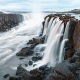 Famous Selfoss waterfall. Jokulsargljufur National Park, Iceland Royalty Free Stock Photography