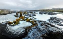 Famous Selfoss waterfall. Jokulsargljufur National Park, Iceland Royalty Free Stock Photos