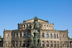 The famous Semper opera in Dresden Royalty Free Stock Photos